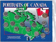 1992 PORTRAITS OF CANADA 125th Anniversary Of Confederation 13 Coin Set