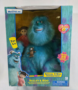 Thinkway Monsters Inc Sulley & Boo Hug & Cuddle Interactive Friends Toy - Sealed