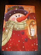 Indoor Outdoor Decorative Flag Snowman With Lantern