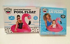 Big Mouth Giant & Lil Float Pink Flamingo Inflatable Tube Raft 4Ft BigMouth