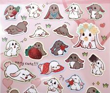 Japanese bunny stickers! Kawaii stickers rabbit pet cute animals planner sticker