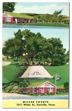 Miller Courts, Kerrville, TX Postcard *4X