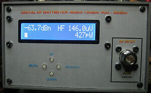 RF DIGITAL MICRO WATTMETER 0.01 - 500 MHZ 600pW - 1W