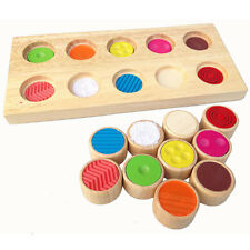Flip Memory Touch Colorful Rubber Teaching AIDS Learning Toys Flap Wooden Toy JA