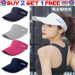 Sun Visor Hat Adjustable Sports Tennis Golf Headband Caps Unisex Teens Hats Cap.