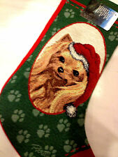 LINDA PICKEN YORKIE DOG CHRISTMAS STOCKING - MANUAL WOODWORKERS - MADE IN USA!!