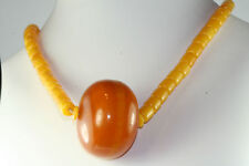 VTG ANTIQUE ISLAM FATURAN AMBER BAKELITE PRAYER BEADS HUGE