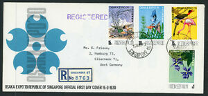 1970 Singapore to Germany Osaka Expo Official Registered Mail First Day Cover