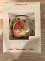 Vtg New 1979 Hallmark Grandmother Christmas Satin Ornament Bulb Ball Holiday
