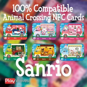 🔥 Animal Crossing Amiibo Cards SANRIO NFC|HelloKitty|PRE-ORDER,Read description