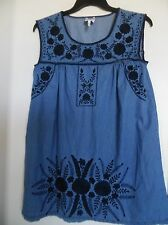 DG2 by Diane Gilman Women's Embroidered Tank Top, Tunic size S