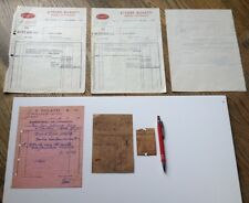 1931 1932 1937 Original Factory Bugatti Receipts, Letter, & Parts Tags