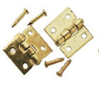 "Dollhouse 1"" Scale Brass Hinge Sets Brass Door Hinge/Nail 6pc/pkg #HW43103"