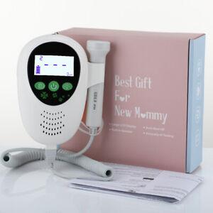 Color LCD Portable Fetal Doppler Gel Vascular Prenatal Baby Monitor 2MHz Probe