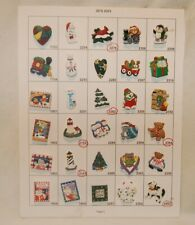Salesman Sample Card of 30 Christmas Holiday  Buttons, Collectors & Crafts #3