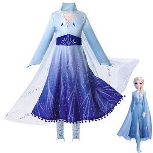 Frozen Disfraces de niña Vestidos Elsa Princesa Fiesta de cumpleaños Disfraz