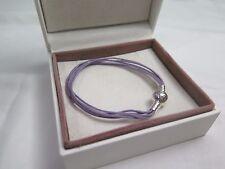 New Pandora Lavender Med  Multi Strand Cord Bracelet 590715CLAM M2 Gift set opt