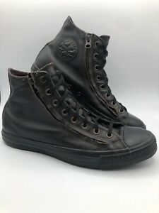 CONVERSE All Star CHUCK TAYLOR Male Unisex Leather DOUBLE ZIP Hi Top Sneaker