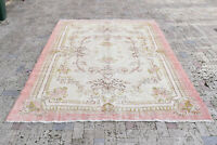 Turkish Rug 82''x116'' Hand Knotted Tribal Vintage Muted Color Carpet 210x296cm