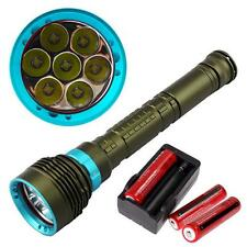 15000LM XM-L L2 LED Underwater 200m Diving Flashlight +18650 Battery+ Charger WT