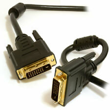 DVI-D 24 + 1 pin Male to Male Cable Dual Link Lead 1m Black
