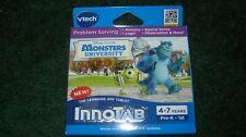 New  Vtech InnoTab Monsters University Learning Game