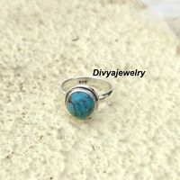 Turquoise  Ring Solid 925 Sterling Silver Band Ring Statement Ring Size sr118