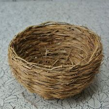 Vintage Used Woven Thin Straw Wood Vine Small Basket French Bird Nest Style