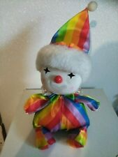 Vintage 1986 Poter Clown Doll Musical Works Moves Head Wind Up~ Beautiful Face!