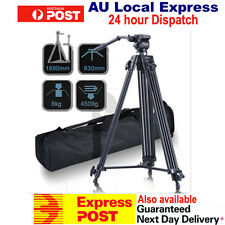 1890mm Weifeng Video Tripod Wf-717 W/fluid Pan Head Dual-lock Quick Release Plat