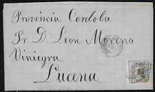 1872.- CORDOBA A LUCENA