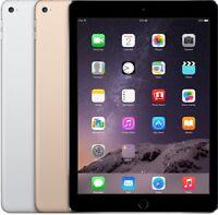 Apple iPad Air 2 (6th Gen) 16GB 32GBB 64GB WIFI + LTE Space Gray Silver Gold