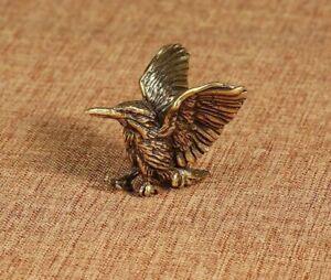 Brass Open Wing Mini Eagle Bird Art Model Home Office Decoration Sculpture Gift