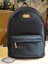 NWT MICHAEL Michael Kors JET SET NYLON Large Lightweight NAVY Backpack Bag $298