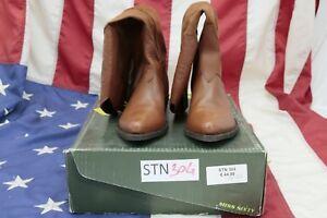 Stivali NUOVI Miss Sixty(Cod. STN304) N.37 DONNA Pelle Marrone Texani Country