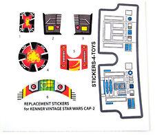 Kenner CAP-2 CAP2 Vintage Star Wars replacement Sticker + BONUS R2 STICKER