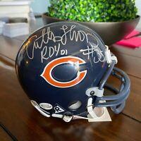 DA BEARS Anthony Thomas ROY Autographed Mini Helmet w/ COA