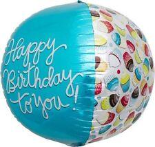 Happy Birthday Cupcake Sphere Helium Foil Balloon - 17 inch