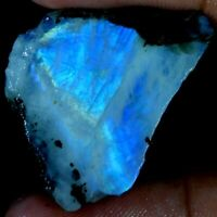 Natural Fire Rainbow Moonstone Rock Rough Slab Brilliant Rough