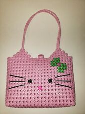 Hello Kitty Woven Bag Basket with Rose-Shaped Clasp (11in by 9in by 3in)