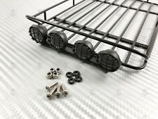 Steel Roof Rack w/ Light Pods + LEDs (x4) for TRX-4 Bronco, Axial Cherokee