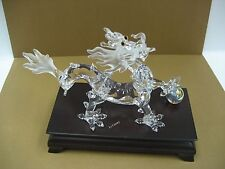 Swarovski Dragon with wooden stand and Crystal Ball Authentic MIB 238202