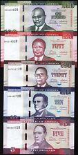 Liberia 5 Pcs SET, 5 10 20 50 100 Dollars, 2016 2017, UNC, P-31-32-33-34-35