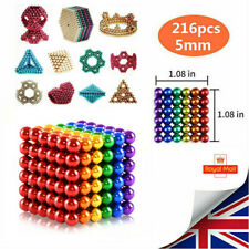 3mm/5mm 216/512PCS 6/8Colored 3D Puzzle Magic Sphere Balls Adult Education Toys