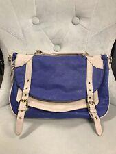 Steve Madden Blue & Gray Crossbody Messenger Bag Faux Leather Purse Handbag