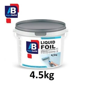 4.5kg Waterproof Tanking Membrane Wet Room Seal Shower AQUA BUILD Liquid Foil