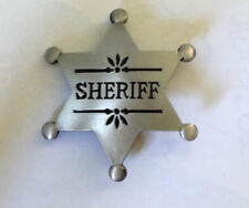 OLD WEST - SHERIFF'S  STAR BADGE - HIGH QUALITY Brass  Badge 60 x 60 mm. E030905