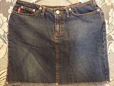 BONGO Denim Jean Skirt Size Juniors 3 Frayed Hem Blue