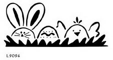 Easter Rabbit, Easter Egg & Chick - Embossing Template by Lasting Impressions