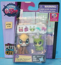 Littlest Pet Shop PET PAWSABILITIES #186/#187 Chevallie Tanwood Breely Buggles